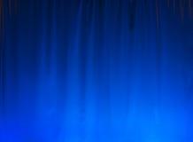 Fondo blu della tenda Immagini Stock Libere da Diritti