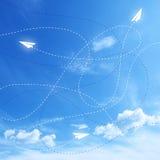 Fondo blu delle frecce Fotografia Stock Libera da Diritti