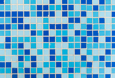Fondo blu delle mattonelle Fotografia Stock