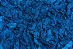 Fondo blu delle pietre e della corteccia Immagine Stock