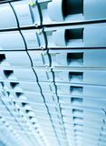 Fondo blu di Abstracrt di memoria a dischi del server. Fotografie Stock