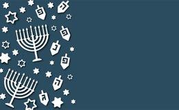 Fondo blu di Chanukah royalty illustrazione gratis