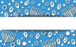 Fondo blu di Chanukah illustrazione vettoriale