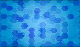 Fondo blu di ciao-tecnologia, fondo dell'illustrazione, fondo di web Fotografie Stock