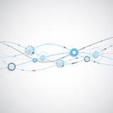 Fondo blu di colore dell'onda astratta illustrazione vettoriale