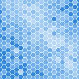 Fondo blu di esagoni Fotografia Stock