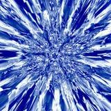 Fondo blu di esplosione della polvere nello stile del Russo del gzhel Illustrazione Vettoriale