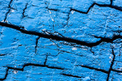 Fondo blu di legno di struttura di legno Fotografia Stock Libera da Diritti