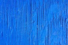 Fondo blu di legno di struttura di legno Fotografia Stock