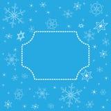 Fondo blu di Natale con la struttura concentrare Royalty Illustrazione gratis