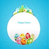 Fondo blu di Pasqua Fotografia Stock