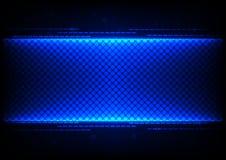 Fondo blu di progettazione di massima di tecnologia astratta Fotografie Stock