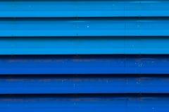 Fondo blu di struttura del metallo dello zinco di Beautyful Fotografia Stock