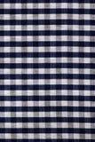Fondo blu di struttura del tessuto del plaid Fotografie Stock Libere da Diritti