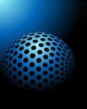 Fondo blu di tecnologia Fotografie Stock