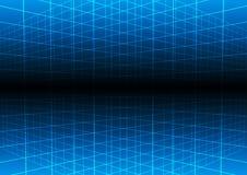 Fondo blu di tecnologia della luce di griglia di vettore Illustratio Fotografie Stock Libere da Diritti
