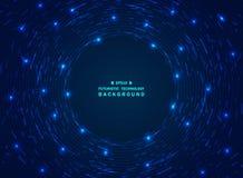 Fondo blu di tecnologia di pendenza futuristica di caos del modello geometrico royalty illustrazione gratis