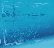 Fondo blu di vetro rotto Immagini Stock Libere da Diritti