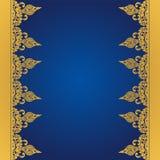Fondo blu di vettore nello stile orientale Fotografie Stock