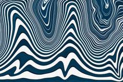 Fondo blu e bianco di Abstact delle onde Struttura con ondulato, linee delle curve Modello liquido illustrazione vettoriale