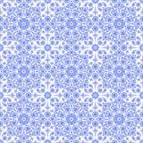 Fondo blu e bianco etnico astratto Reticolo blu-chiaro senza giunte Fotografia Stock