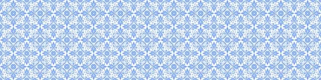 Fondo blu e bianco etnico astratto Reticolo blu-chiaro senza giunte immagine stock