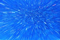 Fondo blu e brillante - astrattismo di colore Fotografia Stock