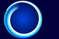 Fondo blu e forma astratta Fotografie Stock