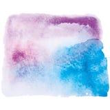 Fondo blu e rosa dell'acquerello Fotografia Stock Libera da Diritti