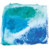 Fondo blu e rosa dell'acquerello Immagini Stock