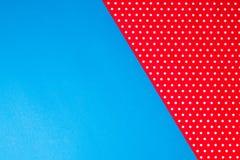 Fondo blu e rosso geometrico astratto della carta del pois Immagini Stock Libere da Diritti