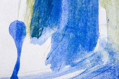Fondo blu e verde astratto di arti illustrazione vettoriale