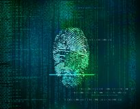 Fondo blu futuristico dell'estratto di tecnologia con la rete co Fotografia Stock