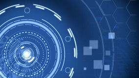 Fondo blu futuristico di tecnologia di Ciao-tecnologia