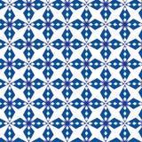 Fondo blu geometrico astratto di vettore del modello Immagini Stock