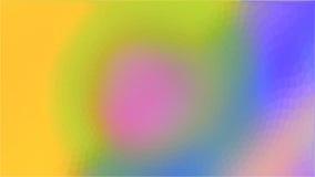 Fondo blu giallo dell'estratto del cerchio del triangolo Fotografia Stock Libera da Diritti