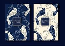 Fondo blu giapponese del modello royalty illustrazione gratis