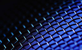 Fondo metallico blu Immagini Stock
