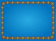 Fondo blu incorniciato con il reticolo trasversale Fotografia Stock Libera da Diritti