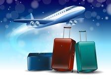 Fondo blu intorno al viaggio di turismo della mosca Immagine Stock Libera da Diritti