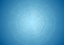 Fondo blu luminoso astratto di ingegneria di tecnologia illustrazione di stock