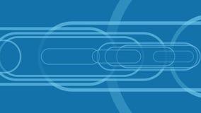 Fondo blu per le presentazioni di affari dal muovere le forme arrotondate illustrazione di stock