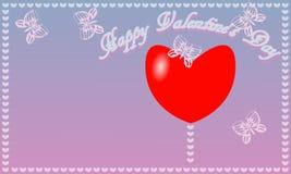Fondo blu-rosa di giorno del ` s del biglietto di S. Valentino della st della cartolina Fotografie Stock Libere da Diritti