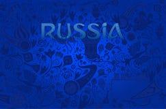 Fondo blu russo, illustrazione di vettore Immagine Stock