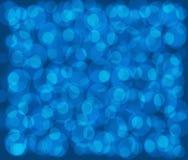 Fondo blu scuro con i cerchi blu Fotografia Stock Libera da Diritti