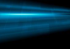 Fondo blu scuro dell'estratto di moto di tecnologia Fotografia Stock Libera da Diritti