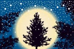 Fondo blu scuro di caduta astratto delle particelle della neve royalty illustrazione gratis