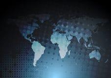 Fondo blu scuro di ciao-tecnologia Fotografia Stock