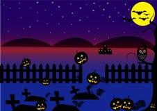 Fondo blu scuro di Halloween Fotografia Stock Libera da Diritti