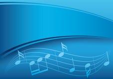Fondo blu scuro di musica con la pendenza Fotografia Stock Libera da Diritti